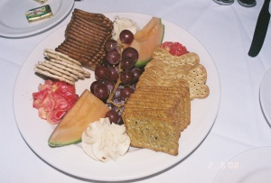 Select Cheeses, Crackers and Fruit